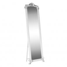 Stojanové zrcadlo, bílá / stříbrná, ODINE