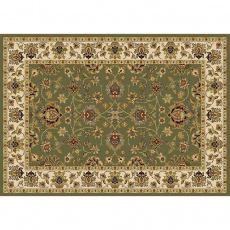 Koberec, zelená / mix barev / vzor, 133x190, KENDRA TYP 2
