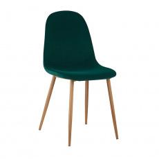 Židle, smaragdová Velvet látka / buk, LEGA
