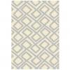 Koberec, krémovo/sivá / vzor, 100x150, GILMER TYP 2