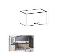Horní skříňka, dub artisan/šedý mat, LANGEN G60KN