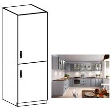 Vysoká skříňka, šedá matná / bílá, pravá, LAYLA D60R