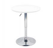 Barový stůl s nastavitelnou výškou, bílá, BRANY NEW