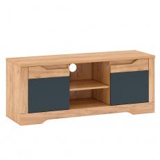 RTV stolek B, dub craft zlatý/grafit šedá, FIDEL
