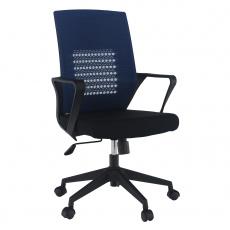 Kancelářské křeslo, tmavomodrá/černá, DIXOR