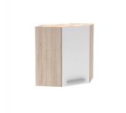 Horní skříňka roh 1DV, dub sonoma / bílá, NOPL-013-OH
