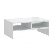 Konferenční stolek 90, bílá, LINDY