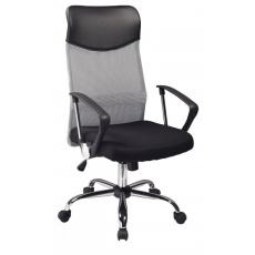 Kancelářská židle Q025 černo-šedá PREZIDENT II