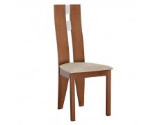Dřevěná židle, třešeň / látka béžová, BONA