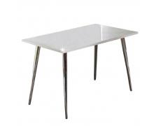 Jídelní stůl 120x70, MDF + chrom, extra výška lesk HG, PEDRO