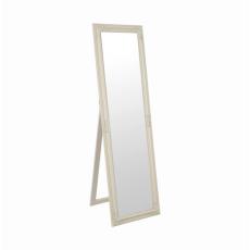 Zrcadlo, dřevěný rám smetanové barvy, MALKIA TYP 12