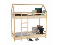 Patrová postel, přírodní, 90x200, FREYA