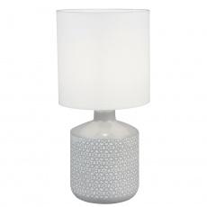 Stolní lampa, bílá / šedá, OFRED