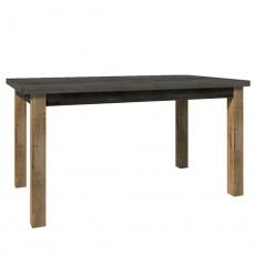 Jídelní stůl, rozkládací, dub lefkas tmavý/smooth šedý, MONTANA STW