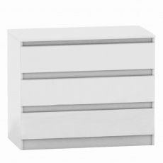 3 šuplíková komoda, bílá, HANY NEW 003