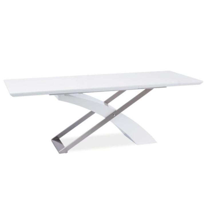 Jídelní stůl, rozkládací 160/220, MDF + kov, KROS