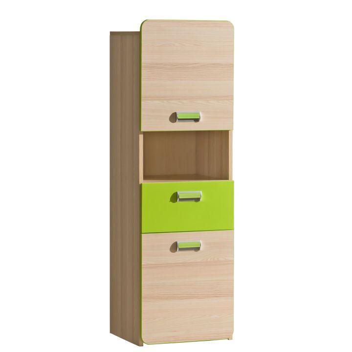Skříňka, jasan/zelená, EGO L4