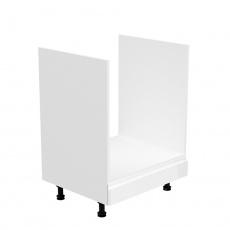 Skříňka na spotřebiče, bílá / bílá extra vysoký lesk, AURORA D60ZK