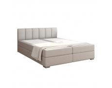 Boxpringová postel 180x200, světle šedá, RIANA KOMFORT