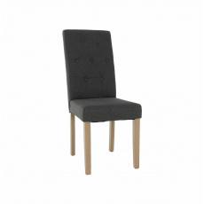 Jídelní židle, šedá / světlý buk, JANIRA NEW