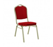 Stohovatelná židle, bordó/champagne, ZINA 2 NEW