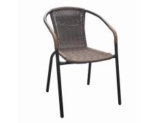 Židle, stohovatelná, hnědá/ černé nohy, DOREN