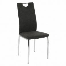Jídelní židle, hnědošedá látka / chrom, OLIVA NEW