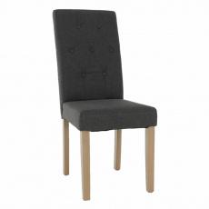 Jídelní židle, šedá / světlý buk, JANIRA