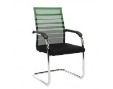 Zasedací židle, zelená / černá, ESIN