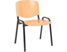 Konfereční židle ISO 12 Buk černá