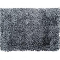 Koberec, bílo-černá, 80x150, Vilan
