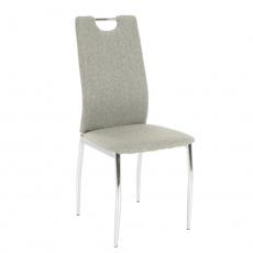 Jídelní židle, látka béžový melír / chrom, OLIVA NEW