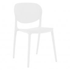 Stohovatelná židle, bílá, FEDRA