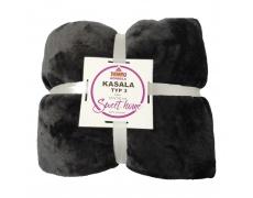 Oboustranná deka, černá, 127x152, KASALA TYP 3