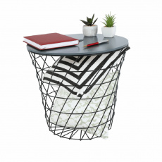 Příruční stolek, grafit / černá, BATIS TYP 2