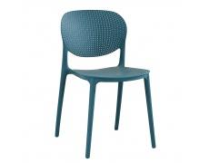 Stohovatelná židle, modrá, FEDRA