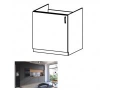 Dřezová skříňka, dub artisan/šedý mat, levá, LANGEN D60Z