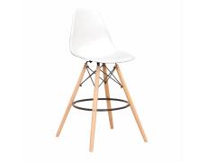 Barová židle, bílá/kov, CARBRY