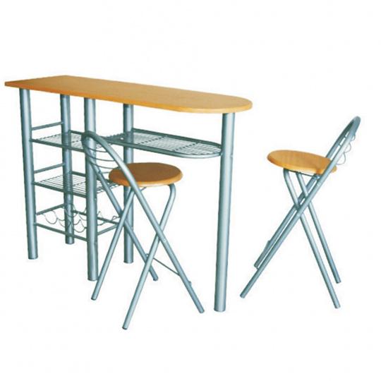 Komplet barový stůl + 2 židle, buk, BOXER
