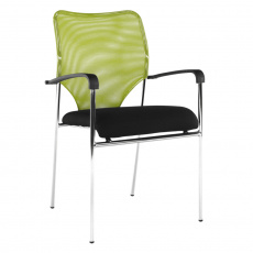 Zasedací židle, zelená/černá, UMUT