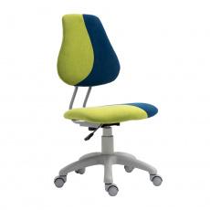 Rostoucí otočná židle, zelená/modrá/šedá, RAIDON