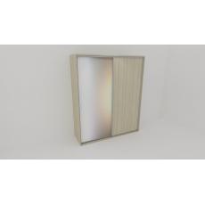 Skříň FLEXI 2 š.220cm v.240cm : 1x dveře plné , 1x zrcadlo