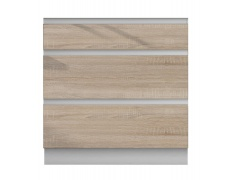 Dolní skříňka D 80 3, dub sonoma/bílá, LINE