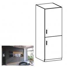 Potravinová skříňka, dub artisan/šedý mat, pravá, LANGEN D60R