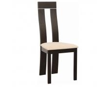 Dřevěná stolička, wenge/látka béžová, DESI NEW