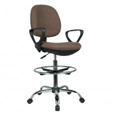 Vyvýšená pracovní židle, hnědá / černá, TAMBER
