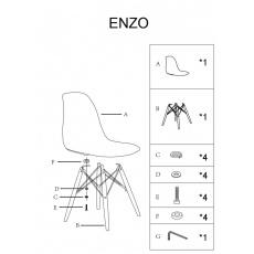 Jídelní židle ENZO modré