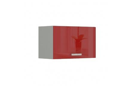 Skříňka horní, červený vysoký lesk, PRADO 60 OK-40