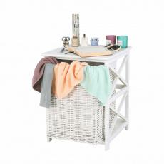 Koš na prádlo, bílá, Rafaello