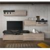 Obývací stěna s LED osvětlením, dub nelson / beton, IOVA